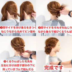 ヘアアレンジ フェミニン アウトドア デート ヘアスタイルや髪型の写真・画像