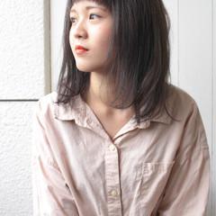 色気 エレガント セミロング 外国人風カラー ヘアスタイルや髪型の写真・画像
