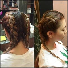 ヘアアレンジ 外国人風 セミロング 渋谷系 ヘアスタイルや髪型の写真・画像