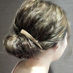 アップスタイル ヘアアレンジ ミディアム 結婚式 ヘアスタイルや髪型の写真・画像
