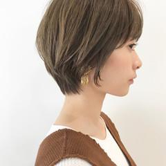 小顔ショート ハンサムショート ショートボブ ショートヘア ヘアスタイルや髪型の写真・画像