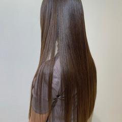 髪質改善 ロング イルミナカラー ブラウンベージュ ヘアスタイルや髪型の写真・画像