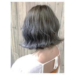 デート 外ハネ ブリーチ ヘアアレンジ ヘアスタイルや髪型の写真・画像