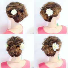 簡単ヘアアレンジ 涼しげ お祭り 夏 ヘアスタイルや髪型の写真・画像