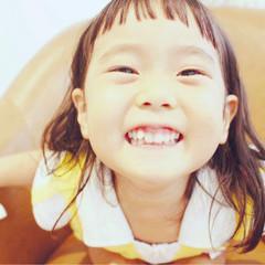 ピュア ガーリー ミディアム 黒髪 ヘアスタイルや髪型の写真・画像