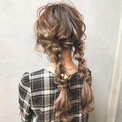大人かわいい ガーリー 編み込み ロング ヘアスタイルや髪型の写真・画像