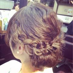編み込み ヘアアレンジ 三つ編み ストリート ヘアスタイルや髪型の写真・画像