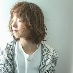 ニュアンス 外国人風 ボブ ミルクティー ヘアスタイルや髪型の写真・画像