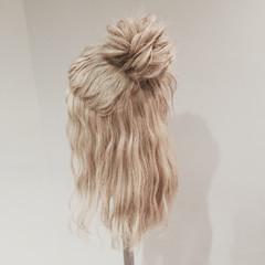 ゆるふわ セミロング ウェーブ ショート ヘアスタイルや髪型の写真・画像