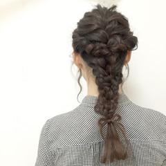 モテ髪 ヘアアレンジ 編み込み ロング ヘアスタイルや髪型の写真・画像