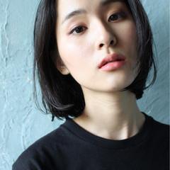 ナチュラル 大人女子 かっこいい 黒髪 ヘアスタイルや髪型の写真・画像