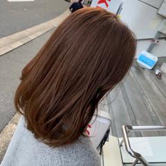 ココアベージュ ナチュラルベージュ フェミニン ミルクティーベージュ ヘアスタイルや髪型の写真・画像