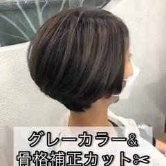 ハイライト 大人ハイライト ツヤ髪 ナチュラル ヘアスタイルや髪型の写真・画像
