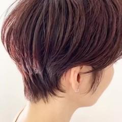 ベリーショート ウルフカット ショートヘア ショートボブ ヘアスタイルや髪型の写真・画像