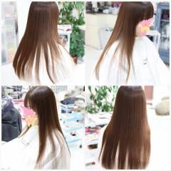 ストレート コンサバ 艶髪 縮毛矯正 ヘアスタイルや髪型の写真・画像