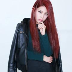 かっこいい ロング ダブルカラー 外国人風 ヘアスタイルや髪型の写真・画像