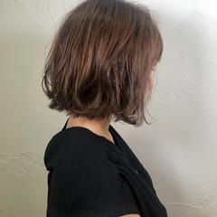 ナチュラル ボブ ミニボブ 切りっぱなしボブ ヘアスタイルや髪型の写真・画像