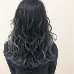フェミニン セミロング グラデーションカラー 簡単ヘアアレンジ ヘアスタイルや髪型の写真・画像
