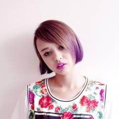 ボブ 外国人風 モード グラデーションカラー ヘアスタイルや髪型の写真・画像