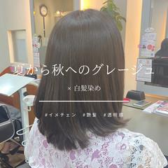 ナチュラル 秋 イメチェン 艶髪 ヘアスタイルや髪型の写真・画像