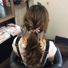 デート ロング ヘアアレンジ 結婚式 ヘアスタイルや髪型の写真・画像