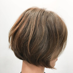 ナチュラル ボブ モテボブ 前下がりボブ ヘアスタイルや髪型の写真・画像