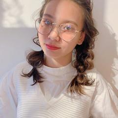 前髪アレンジ ガーリー ミディアム レイヤーカット ヘアスタイルや髪型の写真・画像