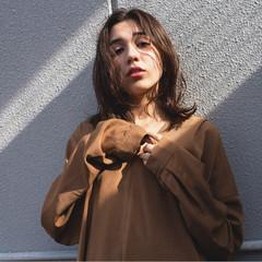 セミロング ブラウン 外国人風 外国人風カラー ヘアスタイルや髪型の写真・画像