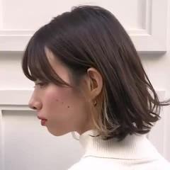 ミディアム スポーツ デート 大人かわいい ヘアスタイルや髪型の写真・画像