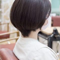 ショートカット ミニボブ ショート アッシュベージュ ヘアスタイルや髪型の写真・画像