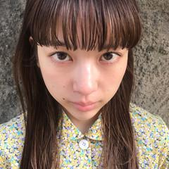 モード ミルクティー ロング デート ヘアスタイルや髪型の写真・画像