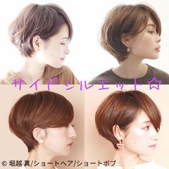 大人カジュアル 耳掛けショート ショートヘア イメチェン ヘアスタイルや髪型の写真・画像
