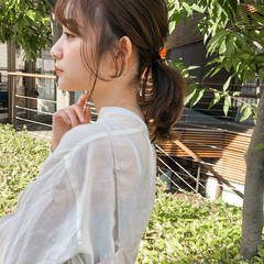 簡単ヘアアレンジ ガーリー セルフヘアアレンジ ウルフカット ヘアスタイルや髪型の写真・画像