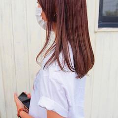 ラベンダーピンク ラベンダーグレージュ ピンクアッシュ ナチュラル ヘアスタイルや髪型の写真・画像