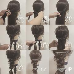 ショート ロング バレッタ 三つ編み ヘアスタイルや髪型の写真・画像