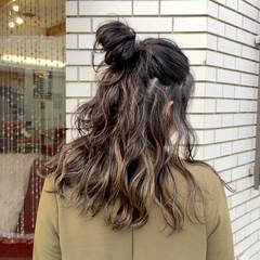 ハイライト セミロング デート 女子会 ヘアスタイルや髪型の写真・画像