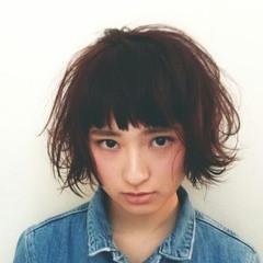 ストリート グラデーションカラー 前髪あり ショート ヘアスタイルや髪型の写真・画像