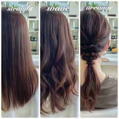 ロング レイヤーカット ナチュラル 透明感カラー ヘアスタイルや髪型の写真・画像