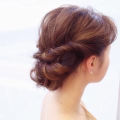 外国人風 ヘアアレンジ 簡単ヘアアレンジ かわいい ヘアスタイルや髪型の写真・画像
