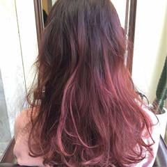 ベージュ グラデーションカラー 外国人風 ストリート ヘアスタイルや髪型の写真・画像