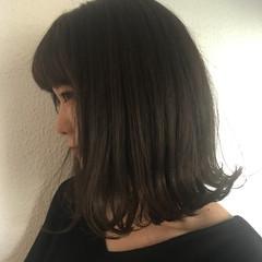 モード アッシュグレージュ グレージュ ボブ ヘアスタイルや髪型の写真・画像