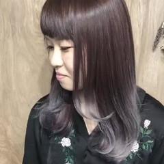ミディアム ブリーチ グラデーションカラー ダブルカラー ヘアスタイルや髪型の写真・画像