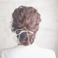 結婚式 ゆるふわ 大人かわいい ヘアアレンジ ヘアスタイルや髪型の写真・画像