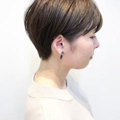 ショート ハンサムショート ショートボブ ショートヘア ヘアスタイルや髪型の写真・画像