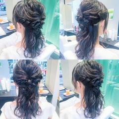 結婚式 ロング ヘアアレンジ 上品 ヘアスタイルや髪型の写真・画像