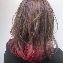 アッシュ フェミニン ハイトーン ピンク ヘアスタイルや髪型の写真・画像
