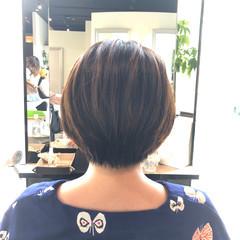フェミニン ショート 大人女子 お手入れ簡単!! ヘアスタイルや髪型の写真・画像