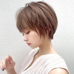 アンニュイほつれヘア ナチュラル 大人かわいい ショートボブ ヘアスタイルや髪型の写真・画像