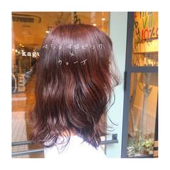 ピンクブラウン 大人女子 ツヤツヤ 大人ヘアスタイル ヘアスタイルや髪型の写真・画像