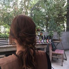 ハイライト ヘアアレンジ セミロング 外国人風 ヘアスタイルや髪型の写真・画像